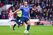 Chris O'Grady of Oldham Athletic (10) in action during the The FA Cup fourth round match between Doncaster Rovers and Oldham Athletic at the Keepmoat Stadium, Doncaster, England on 26 January 2019.