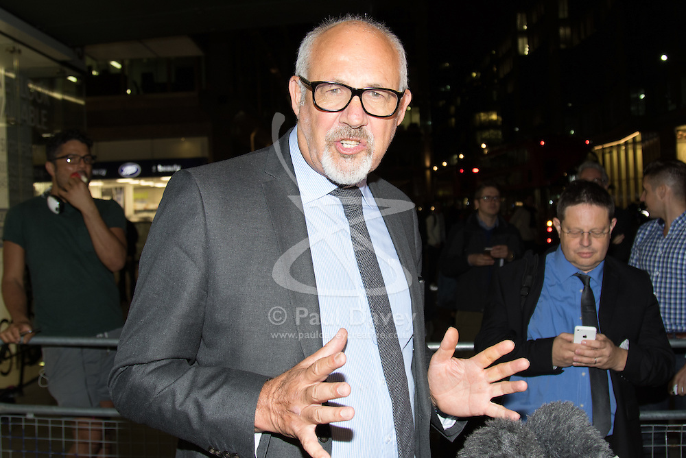 Westminster, September 20th 2016. JON TRICKETT addresses the press as he leaves the Labour Party Headquarters following a meeting of the NEC.