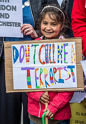 Muslims Stand Against Terrorism held a rally in George Square, Glasgow in condemnation of the terror attacks in Manchester and London.<br /> <br /> © Dave Johnston/ EEm