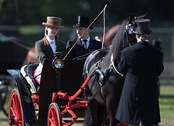Lady Louise Windsor (left) leads the Champagne Laurent-Perrier Meet of the British Driving Society at the Royal Windsor Horse Show, which is held in the grounds of Windsor Castle in Berkshire.
