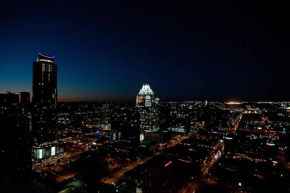 The Four Seasons Residences Austin hosted a party Friday night for current, future and prospective residents. The thirty-second floor of the building offers a dramatic view of the city.