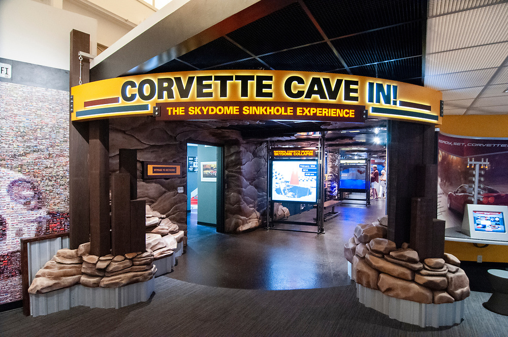 The Skydome Sinkhole Experience, created after the infamous sinkhole incident, at the National Corvette Museum in Bowling Green, Kentucky on Friday, August 18, 2017. Copyright 2017 Jason Barnette