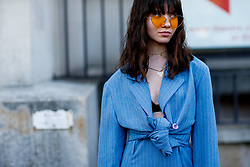Street style, Lucille Chvidchenko arriving at Off White Spring-Summer 2019 menswear show held at Palais de Chaillot, in Paris, France, on June 20th, 2018. Photo by Marie-Paola Bertrand-Hillion/ABACAPRESS.COM