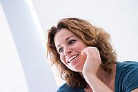 AMSTERDAM  -  Oud hockey international, journalist, schrijfster, coach , Denise Mosbach .    COPYRIGHT KOEN SUYK