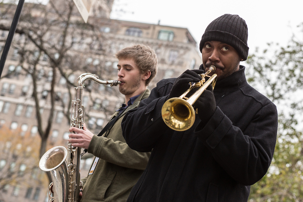 Trumpeter Donald Malloy, playing with the Mike Mo Quartet.