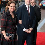 NLD/Amsterdam/20080201 - Verjaardagsfeest Koninging Beatrix en prinses Margriet, Hans Breedveld en partner