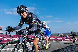 Giorgia Bronzini battles up the climb - Ronde van Drenthe 2016, a 138km road race starting and finishing in Hoogeveen, on March 12, 2016 in Drenthe, Netherlands.