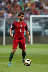 August 31, 2017 - Porto, Portugal - Portugal's forward Bernardo Silva in action during the 2018 FIFA World Cup qualifying football match between Portugal and Faroe Islands at the Bessa XXI stadium in Porto, Portugal on August 31, 2017. (Credit Image: © Pedro Fiuza/NurPhoto via ZUMA Press)