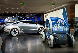 Renault Twizy ZE and Zoe Ze concept futuristic electric cars at Frankfurt Motor Show 2009