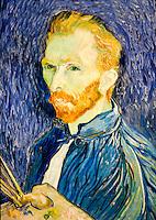 National Gallery, Washington DC. Self portrait by Van Gogh