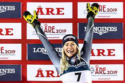 February 8, 2019 - Re, SWEDEN - 190208 Ragnhild Mowinckel of Norway celebrates on the podium after the women's alpine combination during the FIS Alpine World Ski Championships on February 8, 2019 in re..Photo: Joel Marklund / BILDBYRN / kod JM / 87851 (Credit Image: © Joel Marklund/Bildbyran via ZUMA Press)