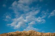 Clouds above the peak of Diamond Head Crater in Honolulu, Hawaii,