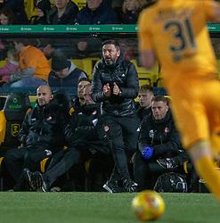 Aberdeen manager Derek McInnes . Livingston 1 v 2 Aberdeen, SPFL Ladbrokes Premiership played 29/1/2018 at Livingston home ground, Tony Macaroni Arena.