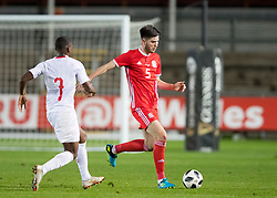 NEWPORT, WALES - Tuesday, October 16, 2018: Wales' Cian Harries in action during the UEFA Under-21 Championship Italy 2019 Qualifying Group B match between Wales and Switzerland at Rodney Parade. (Pic by Laura Malkin/Propaganda)