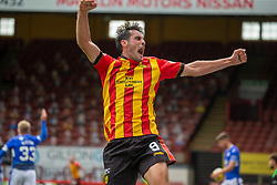 31JUL21 Partick Thistle's Brian Graham celebrates after scoring their second goal. half time : Partick Thistle 2 v 1 Queen of the South. First Scottish Championship game of the season.