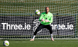 Republic of Ireland goalkeeper Darren Randolph during a training session at the FAI National Training Centre, Dublin.