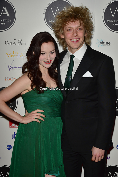 Christina Bennington and Andrew Polec Arriver at the 18th Annual WhatsOnStage Awards 2018 at Prince of Wales Theatre on 25 Feb 2018, London, UK