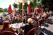 ARGENTINA, BUENOS AIRES, RECOLETA One of the city's most fashionable areas, Plaza Alvear is a favorite strolling area