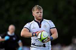 Rhys Lawrence (Bristol)prepares to throw into a lineout - Photo mandatory by-line: Patrick Khachfe/JMP - Mobile: 07966 386802 17/08/2014 - SPORT - RUGBY UNION - Bristol - Clifton Rugby Club - Bristol Rugby v Newport Gwent Dragons - Pre-Season Friendly