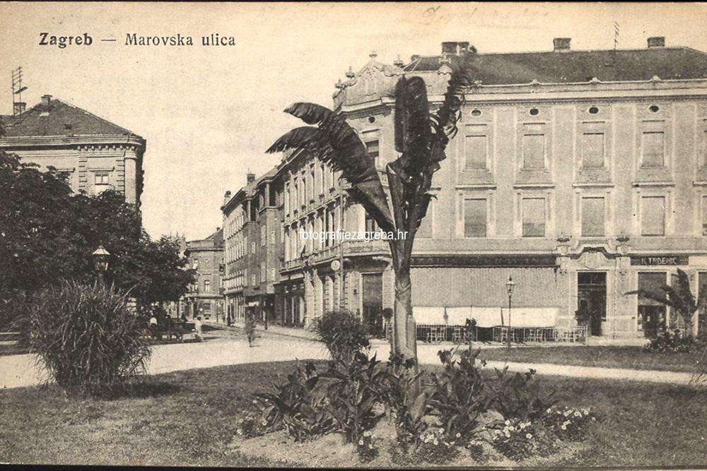 Zagreb : Marovska ulica. <br /> <br /> Impresum[S. l. : S. n., 19--].<br /> Materijalni opis1 razglednica : tisak ; 8,9 x 13,9 cm.<br /> Vrstavizualna građa • razglednice<br /> ZbirkaGrafička zbirka NSK • Zbirka razglednica<br /> Formatimage/jpeg<br /> PredmetZagreb –– Tomaša Masaryka<br /> Jezikhrvatski<br /> SignaturaRZG-MASS-1<br /> Obuhvat(vremenski)20. stoljeće<br /> NapomenaRazglednica je putovala.<br /> PravaJavno dobro<br /> Identifikatori000952473<br /> NBN.HRNBN: urn:nbn:hr:238:149470 <br /> <br /> Izvor: Digitalne zbirke Nacionalne i sveučilišne knjižnice u Zagrebu