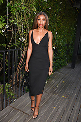 12 August 2021 - A dinner to celebrate the launch of Ghost Fragrances' alluring new scent , 'Orb of Night' held at The Mandrake Hotel, 20-21 Newman Street, London. <br /> Picture shows - Yewande Biala.<br /> <br /> Photo by Dominic O'Neill/Desmond O'Neill Features Ltd.  +44(0)1306 731608  www.donfeatures.com