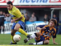 Fotball<br /> Argentina<br /> Boca v Rosario Central<br /> <br /> CARLOS TEVEZ (BOCA) and  GERMAN LEON FORTE (ROSARIO CENTRAL)<br /> <br /> Foto: Digitalsport
