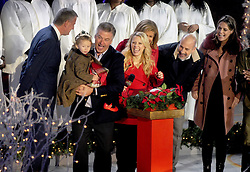 Mayor of New York City Bill de Blasio, Alec Baldwin, Kate McKinnon, Matt Lauer, Savannah Guthrie, Al Roker attend the annual Christmas Tree Lighting Ceremony at the Rockefeller Center in New York City, NY, USA, on November 30, 2016. Thousands of revelers crowded the sidewalks for the event. The Tree will remain lit and can be viewed until 9pm on January 7, 2017. Photo by Dennis Van Tine/ABACAPRESS.COM