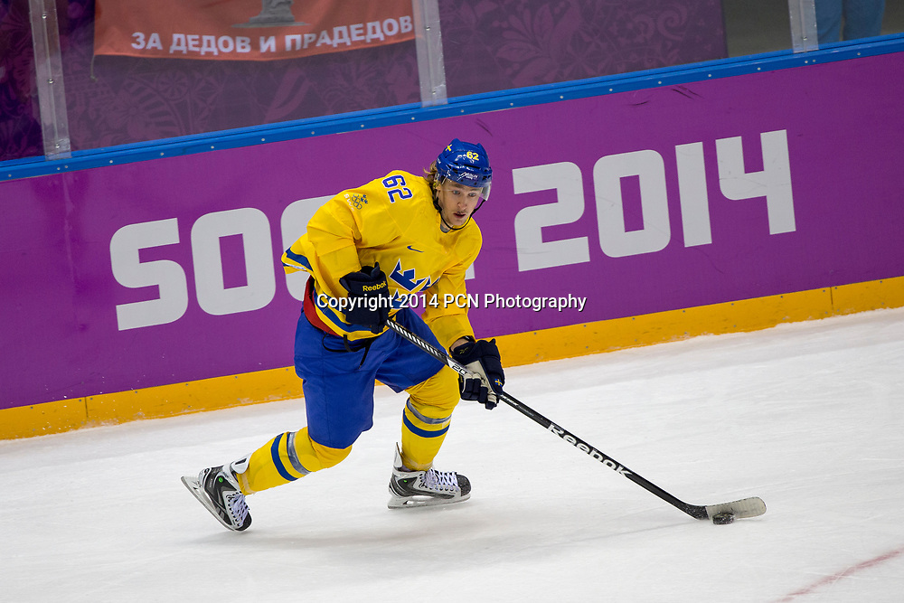 Carl Hagelin (SWE)-62, during Sweden vs Slovenia game at the Olympic Winter Games, Sochi 2014