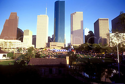 Stock photo of the Houston skyline from the western side