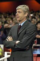 Photo: Olly Greenwood.<br />Arsenal v PSV Eindhoven. UEFA Champions League. Last 16, 2nd Leg. 07/03/2007. Arsenal manager Arsene Wenger
