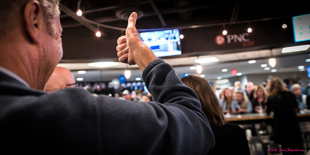 Democrat Susan Wild of Allentown wins the Pa. 7th Congressional District beating Republican Marty Nothstein on Tuesday, Nov. 6, 2018. Her celebration was held at Coca-Cola Park, Allentown, Pa.. <br /> Photography ©2018, Donna Fisher Susan Wild Pa. 7th Congressional District