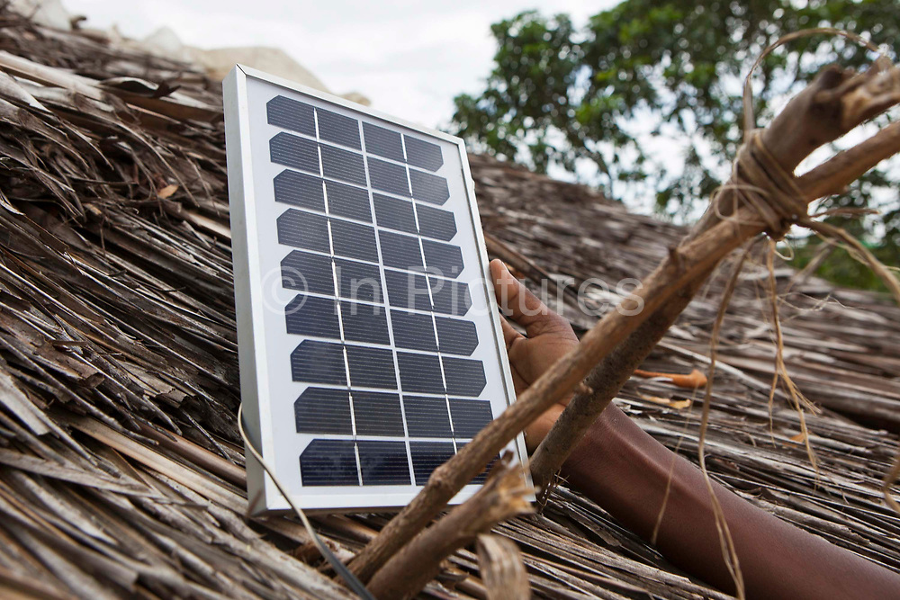 Saumu has a solar light fitted in her house to help her study.  Wema has supplied about 100 solar lights to students of Mari Mani School. The school is supported by Wema, a NGO organisation supporting vulnerable children.  The school has 807 pupils and 16 teachers.