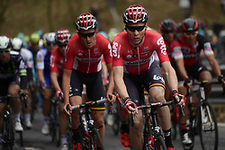 March 18, 2017 - San Remo, Italie - SANREMO, ITALY - MARCH 18 : SIEBERG Marcel (GER) Rider of Team Lotto - Soudal and BENOOT Tiesj (BEL) Rider of Team Lotto - Soudal in action during the UCI WorldTour 108th Milan - Sanremo cycling race with start in Milan and finish at the Via Roma in Sanremo on March 18, 2017 in Sanremo, Italy, 18/03/2017  (Credit Image: © Panoramic via ZUMA Press)
