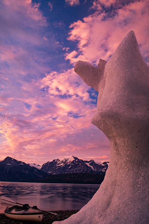 West Arm, evening light, Glacier Bay National Park, Alaska, USA