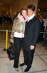MATTHEW MELLON and NOELLE RENO at a fashion show and after party to celebrate the 20th Anniversay of fashion designer Ozwald Boateng held at the Victoria & Albert Museum, London on 25th November 2005.<br /><br />NON EXCLUSIVE - WORLD RIGHTS