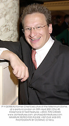 P Y GERBEAU former Chief Executive of the Millennium Dome, at a party in London on 30th April 2001.ONJ 45