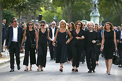 Nathalie Rykiel attending the funeral ceremony of French designer Sonia Rykiel at the Montparnasse cemetery in Paris, France on September 1, 2016. The 86 years old pioneer of Parisian womenswear from the late 1960's onwards, has died from a Parkinson's disease-related illness. Photo by ABACAPRESS.COM