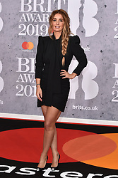 February 20, 2019 - London, United Kingdom of Great Britain and Northern Ireland - Louise Redknapp arriving at The BRIT Awards 2019 at The O2 Arena on February 20, 2019 in London, England  (Credit Image: © Famous/Ace Pictures via ZUMA Press)