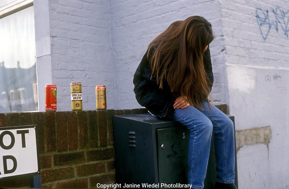 Depressed teenager taken to drink.
