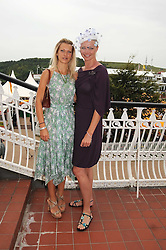 Left to right, LADY ALEXANDRA SPENCER-CHURCHILL and model JODIE KIDD at the 3rd day of the 2008 Glorious Goodwood racing festival at Goodwood Racecourse, West Sussex on 31st July 2008.<br /> <br /> NON EXCLUSIVE - WORLD RIGHTS