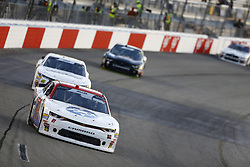 April 20, 2018 - Richmond, Virginia, United States of America - April 20, 2018 - Richmond, Virginia, USA: Vinnie Miller (01) brings his race car down the front stretch during the ToyotaCare 250 at Richmond Raceway in Richmond, Virginia. (Credit Image: © Chris Owens Asp Inc/ASP via ZUMA Wire)