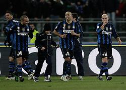 Bari (BA), 03-02-2011 ITALY - Italian Soccer Championship Day 23 - Bari VS Inter..Pictured: Gioia Inter dopo 3° gol..Photo by Giovanni Marino/OTNPhotos . Obligatory Credit