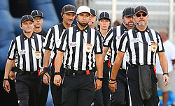 29.07.2017, Woertersee Stadion, Klagenfurt, AUT, AFL, Austrian Bowl XXXIII, Dacia Vikings Vienna vs Swarco Raiders Tirol, im Bild Referee Team // during the Austrian Football League Austrian Bowl XXXIII game between Dacia Vikings Vienna vs Swarco Raiders Tirol at the Woertersee Stadion, Klagenfurt, Austria on 2017/07/29. EXPA Pictures © 2017, PhotoCredit: EXPA/ Thomas Haumer