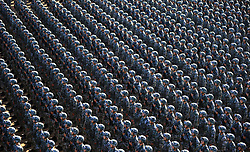 July 30, 2017 - Zhurihe, China - Troops make preparation for a military parade at Zhurihe training base in north China's Inner Mongolia Autonomous Region. China will hold a military parade at Zhurihe training base in north China's Inner Mongolia Autonomous Region at 9:00 a.m. Sunday, in celebration of the 90th birthday of the Chinese People's Liberation Army.  (Credit Image: © Zha Chunming/Xinhua via ZUMA Wire)