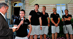 Will Tiller introduces his Full Metal Jacket Racing team at the opening ceremony. Photo: Chris Davies/WMRT