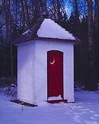 Brick privy, Sturgeon Point Lighthouse, Sturgeon Point State Park, Lake Huron, Alcona County, Michigan.