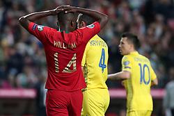 March 22, 2019 - Lisbon, Portugal - Portugal's midfielder William Carvalho reacts during the UEFA EURO 2020 group B qualifying football match Portugal vs Ukraine, at the Luz Stadium in Lisbon, Portugal, on March 22, 2019. (Credit Image: © Pedro Fiuza/NurPhoto via ZUMA Press)