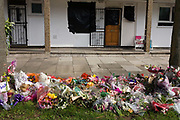 Floral tributes to murdered actress Gemma McCluskie have been left outside the former Eastender's Hackney home whose windows are covered in black polythene. The headless remains of the young actor were recovered from Regent's Canal in Hackney on 6 March 2012 and her brother Tony McCluskie was formally charged with the murder of his sister. Gemma Rose McCluskie (1983 – 2012) was a British television actress. She was a regular cast member in the BBC soap opera EastEnders, in which she played Kerry Skinner from 2000 to 2001. In March 2012 her body was found in a London canal. McCluskie had two brothers, Danny and Tony and Tony has been charged with her murder.