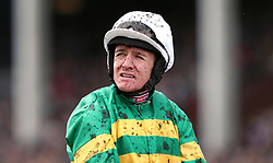 Jockey Barry Geraghty after the JCB Triumph Hurdle race during the Gold Cup Friday of the 2018 Cheltenham Festival at Cheltenham Racecourse.