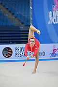 Majerowska Maja during qualifying at clubs in Pesaro World Cup at Adriatic Arena on 27 April 2013.<br /> Maja is a Polish individual rhythmic gymnast born in Breslau on December 14, 1995.